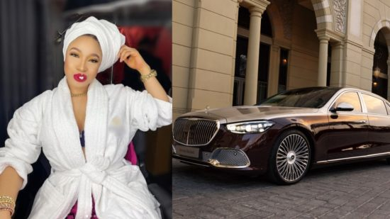 Tonto Dikeh spites her haters with her new 'MAYBACH' car