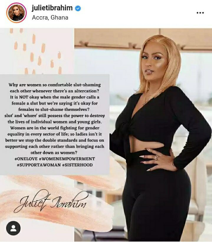 Why Are Women So Comfortable Slut-shaming Each Other – Juliet Ibrahim Asks