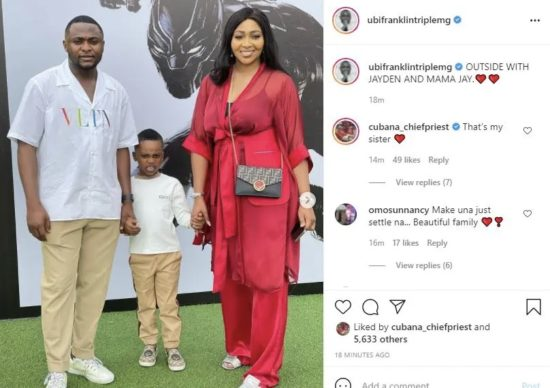 Ubi Franklin Unites With Lilian Esoro To Celebrate Their Son's 5th Birthday In Style