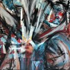 a piece of my world_ acrilic si colaj arta digitala pe panza_60 pe 60 cm_ alina manole