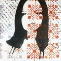 "autor: Alina Manole titlu: ""Portret-arhaic vs. modern"" tehnica: acrilic/panza dimensiune: 60/60 cm"