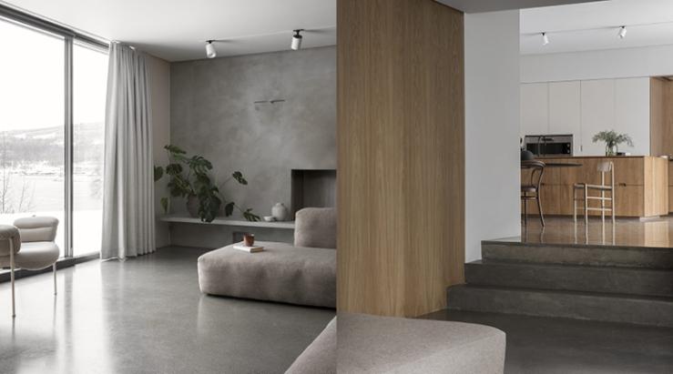In dit huis lopen vloer en muren in elkaar over  INTERIOR