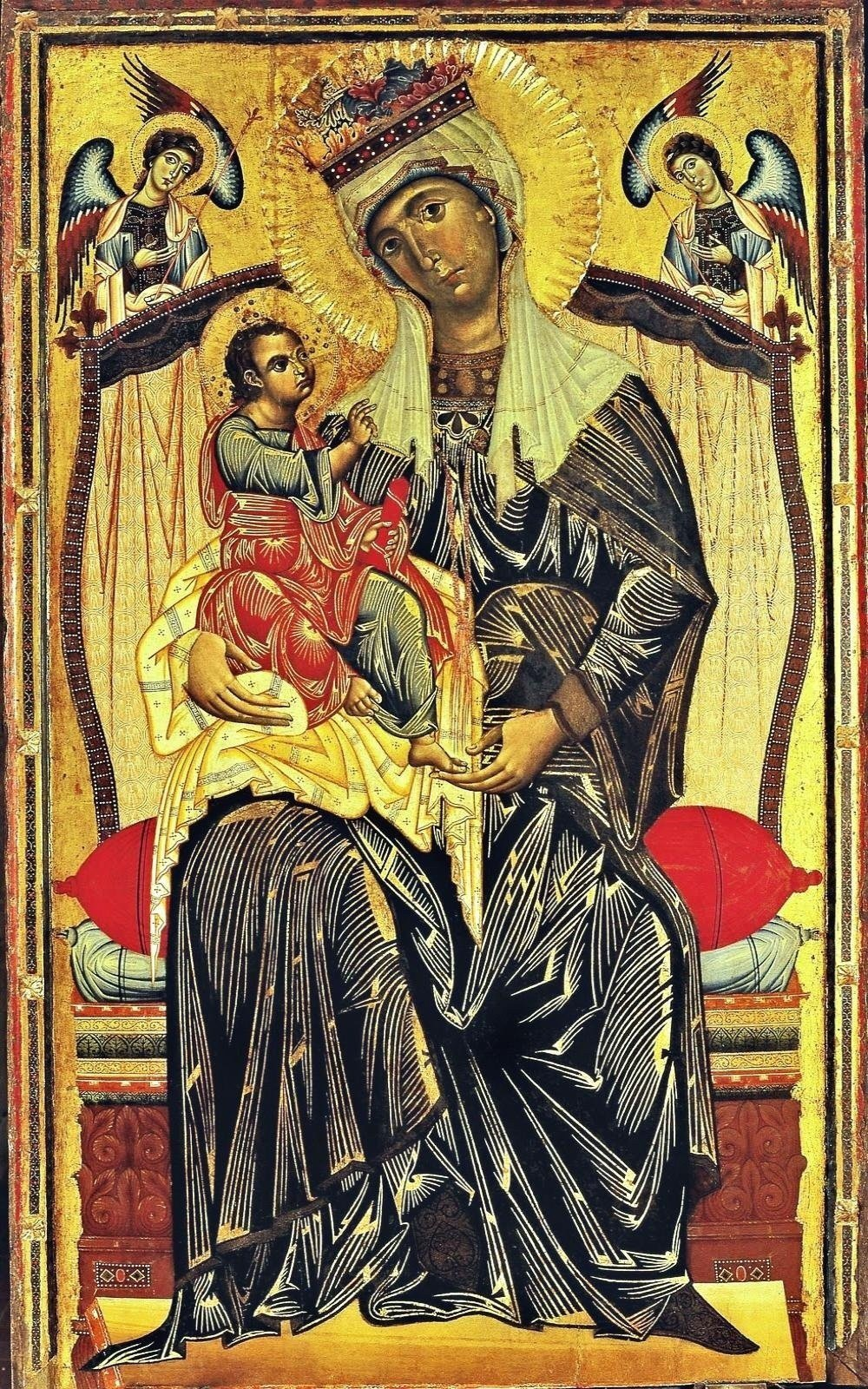 Coppo Di Marcovaldo Mother Of God Enthroned Maest 224 Santa Maria Dei Servi Orvieto