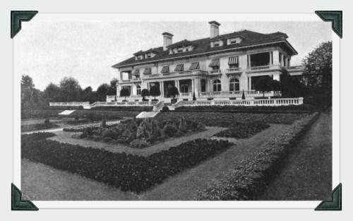 The Bedford estate gardens.