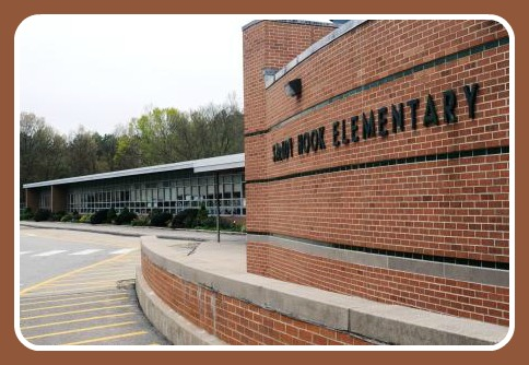 Tom Kretsch's photo of Sandy Hook Elementary School was part of Newtown High School's 50th reunion celebration last June.