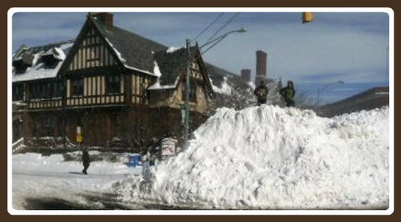 Another shot of the iconic snow mound downtown. This one comes courtesy of Joelle Malic.