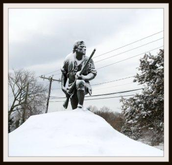 Thank God no one vandalized the Minuteman statue today. (Photo by Katherine Hooper)