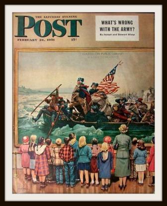 """George Washington Crossing the Delaware"" by Stevan Dohanos"