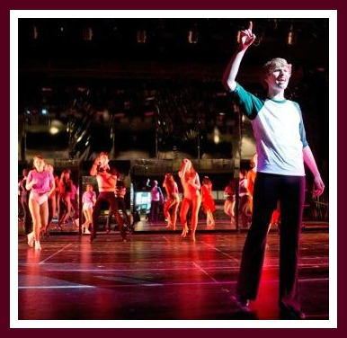 """Michael Sixsmith, one of many talented actors and dancers in """"A Chorus Line."""" (Photo by Kerry Long)"""