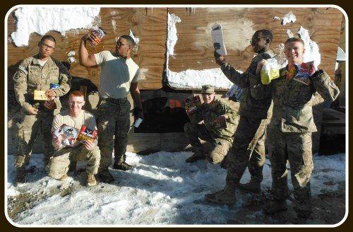 Letters and packages from Westport have buoyed Sam Goodgame's platoon, thousands of miles away in snowy Afghanistan.