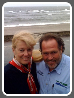 During a nor'easter, Gail Cunningham Coen welcomed Waveland. Mississippi mayor Tommy Longo to her Compo Beach home. They forged a strong friendship in the months following Hurricane Katrina.