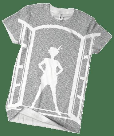 """The """"Peter Pan"""" t-shirt."""