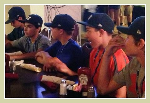 Westport Little League at dinner - Rob Stone