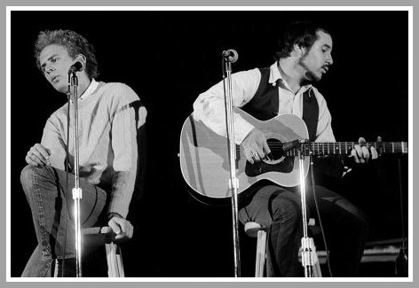 Simon and Garfunkel (above, Garfunkel and Simon) harmonized beautifully. They were not always looking at each other, however.