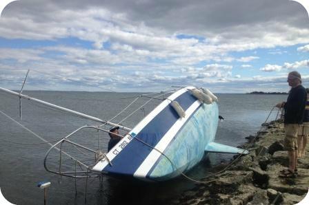 Boat at Compo Beach