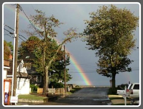 Danbury Avenue rainbow