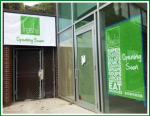 Still a bit of work to do, to freshen up Freshii's entrance.