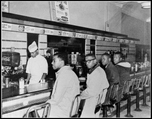 The Woolworth's sit-in in Greensboro, North Carolina.