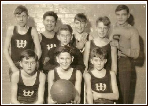 An early YMCA youth basketball team.