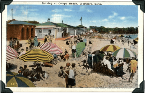 Compo Beach is both timeless and ever-changing. Much is now different from this early 20th-century scene -- but plenty is not.