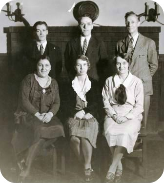 Doc Doubleday (standing, far right) with other Westport YMCA officers.