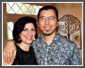 Jeanine Esposito and Frederic Chiu, in their Weston Road home.