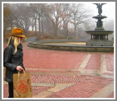 Jordan Teske, walking home past Bethesda Fountain in Central Park.