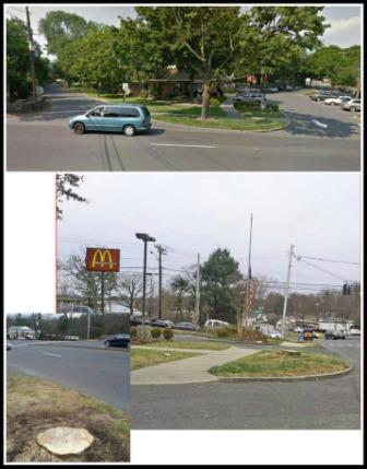 All it took was the removal of one tree to dramatically change the look of McDonald's.