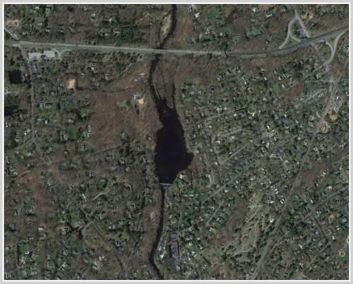 Westport 2013 - aerial view Saugatuck River