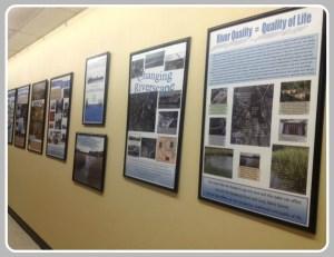 The 2nd floor exhibit in Town Hall.