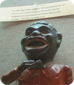 "The ""Jolly Nigger Bank,"" as described in the Westport Library exhibit."