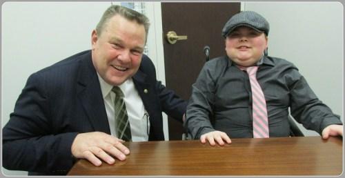 Cory hangs with Senator Jon Tester of Montana.