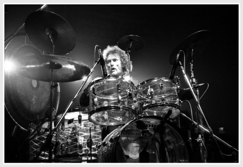 Ginger Baker, and his drums. (Photo/Wikipedia)