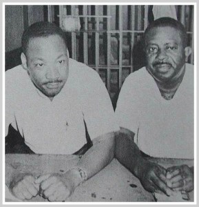 Rev. Martin Luther King and Rev. Ralph Abernathy in the St. Johns County jail.