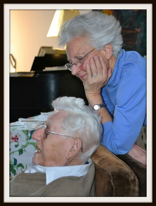 Richard Brodie and his wife Esther, in the house he built. They were married nearly 65 years.