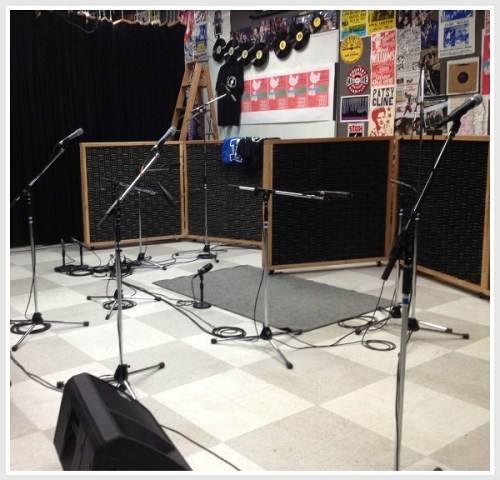 The WWPT (90.3 FM) studios include space for live concerts. Bands play at 12 and 3 p.m. today.