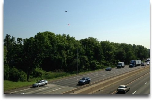 "A ""balloon test"" last June showed how high the Greens Farms Road cell tower would be."