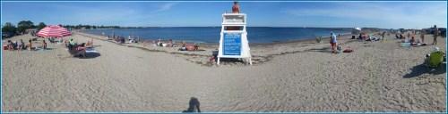 A Compo Beach lifeguard.