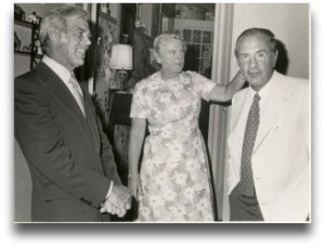 Years ago, Ruth Bedford hosted this event. She is shown with Lester Giegerich (left) and Dr. Malcolm Beinfield. (Photo courtesy of Westport Y)