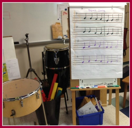 "Sarah Guterman's Kings Highway classroom is packed with musical ""stuff."""