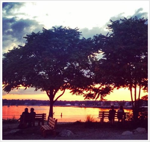 "Betsy Phillips Kahn captured this wonderful Westport sunset, as the ""06880"" party wound down."