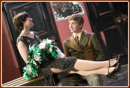 "Sally Bowles (Claire Smith) and Cliff (Jack Baylis) share a moment in ""Cabaret."" (Photo/Kerry Long)"