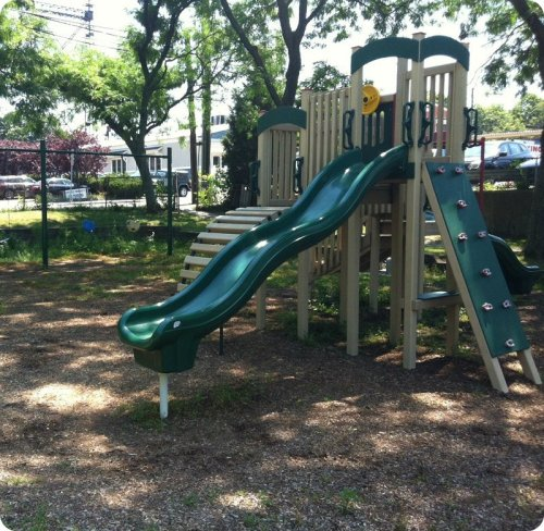 The seldom-used playground equipment in Luciano Park. (Photo/JP Vellotti)