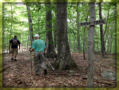 Hiking the Ridge Trail.