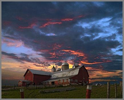 """Sunset Barn,"" by Edward Loedding."