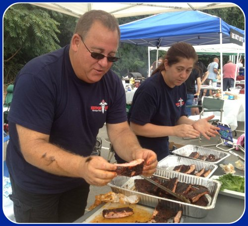 Westport's Emergency Medical Services staff participated in the hotly contested barbecue competition.