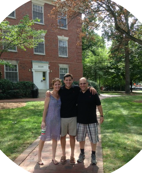 Cathy Utz and Tommy Greenwald drop their 3rd son, Jack, at college. They're now empty nesters!