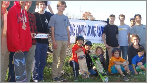 A small part of the big crowd of Saturday's skaters.