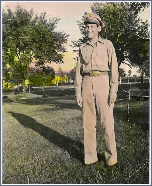 Stan Englebardt, age 18, soon after entering the Army.