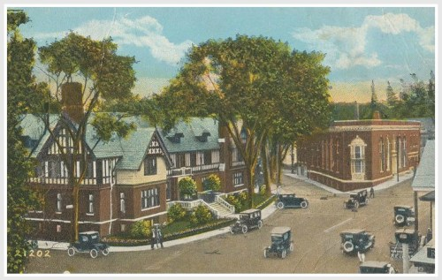 YMCA and bank in 1920s or so